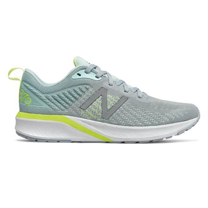 New Balance Women's 870v5 Running Shoe - Light Slate/Bali Blue
