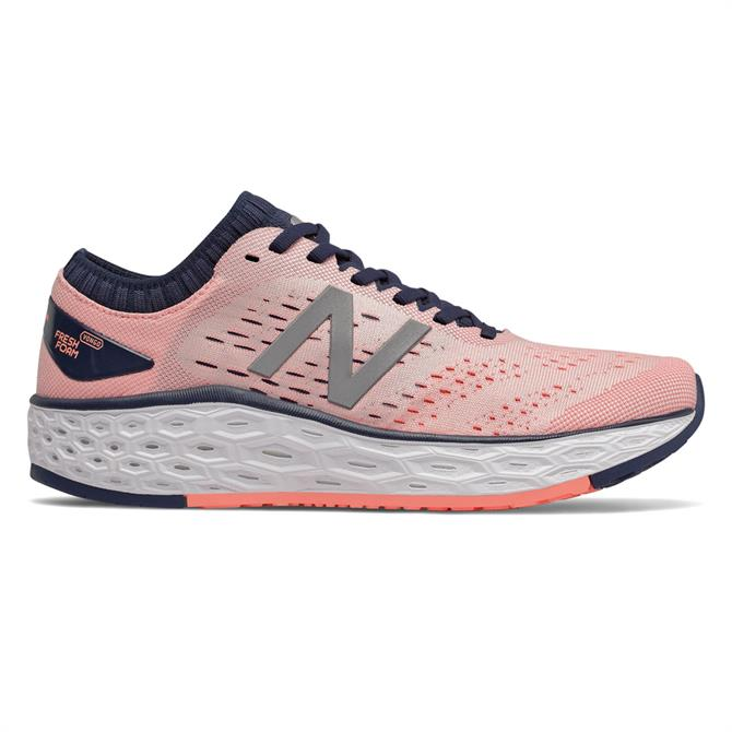 New Balance Women's Fresh Foam Vongo v4 Running Shoe - Peach Soda/Natural Indigo