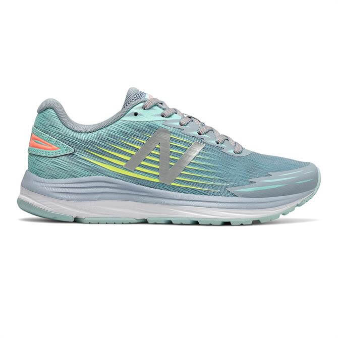 New Balance Women's Synact Running Shoe - Light Slate/Bali Blue