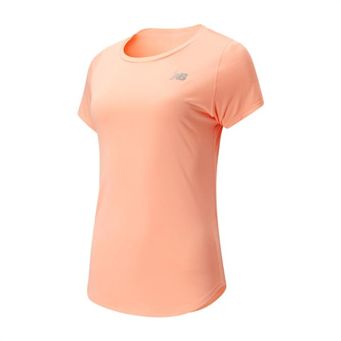 New Balance Women's Accelerate Short Sleeve T-Shirt - Ginger Pink