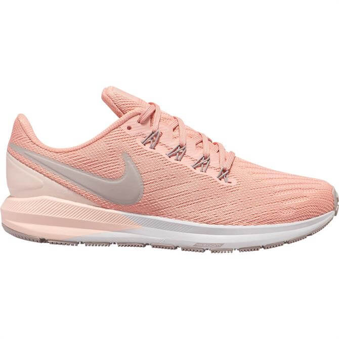 Nike Women's Air Zoom Structure 22 Running Shoe- Pink Quartz/Pumice- Washed Coral