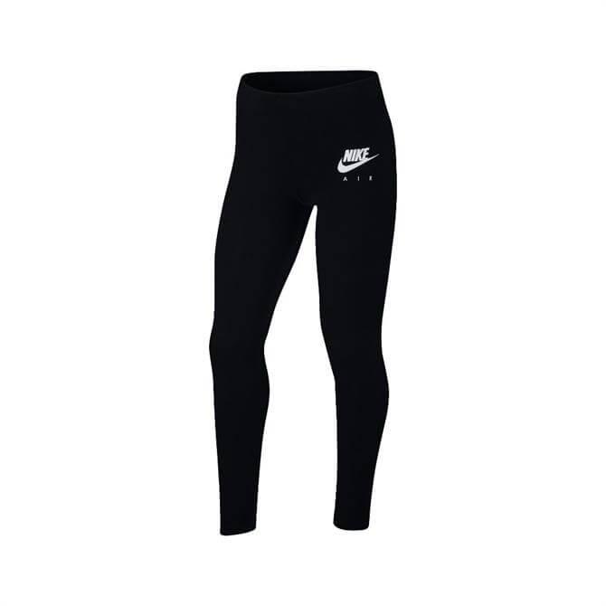 Nike Air Girls' Leggings - Black/White