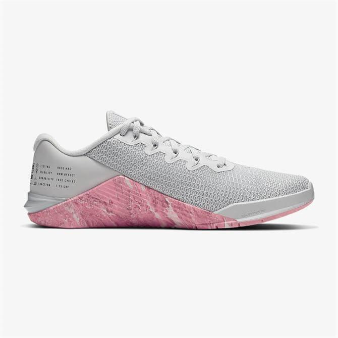 Nike Metcon 5 Women's Training Shoe- Pure Platinum/Pink