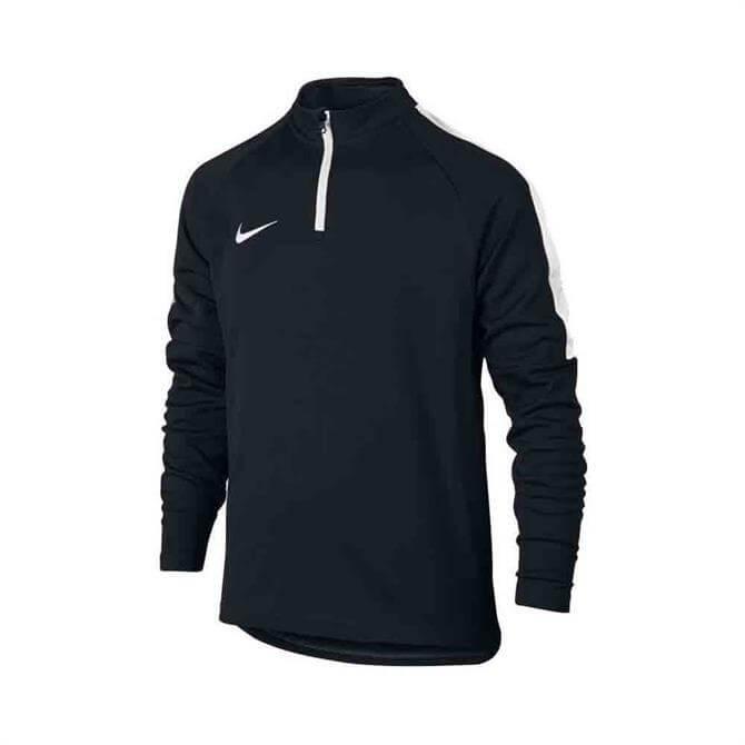Nike Dry Academy Junior 1/4 Zip Football Drill Top- Black/White