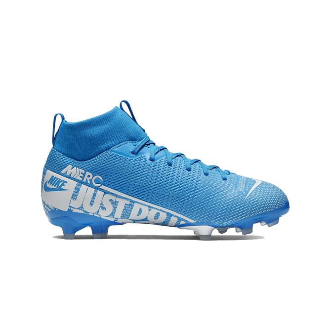 Nike Junior Mercurial Superfly 7 Academy MG Football Boot - Blue/White