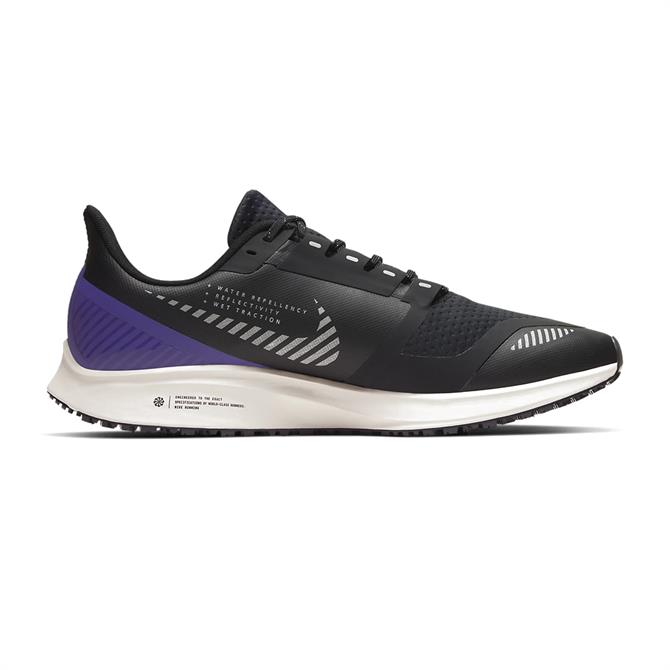 Nike Men's Air Zoom Pegasus 36 Shield Running Shoe - Black/Desert Sand