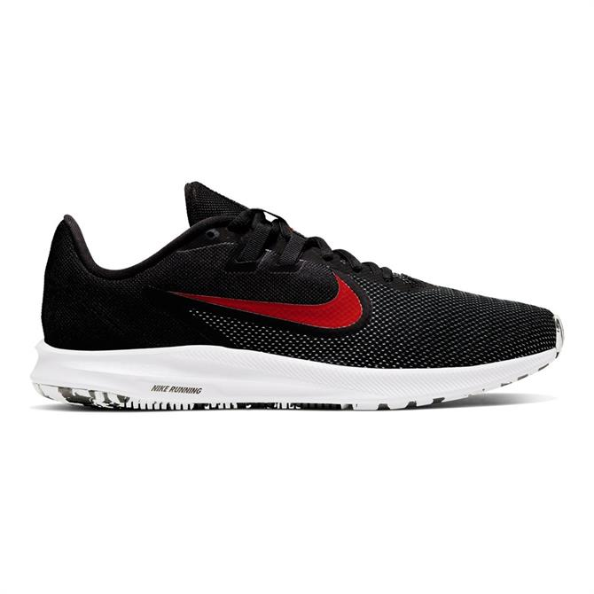 Nike Men's Downshifter 9 Running Shoes - Black/Red/White