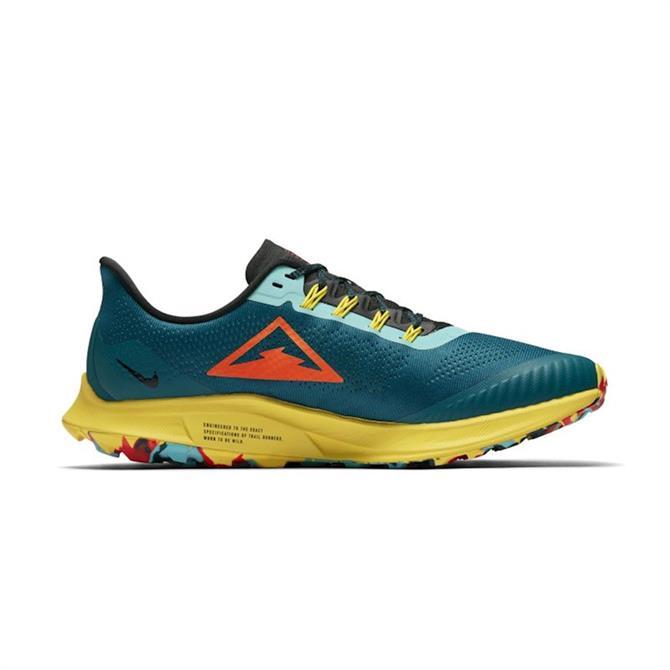 Nike Men's Air Zoom Pegasus 36 Trail Running Shoe - Teal/Yellow