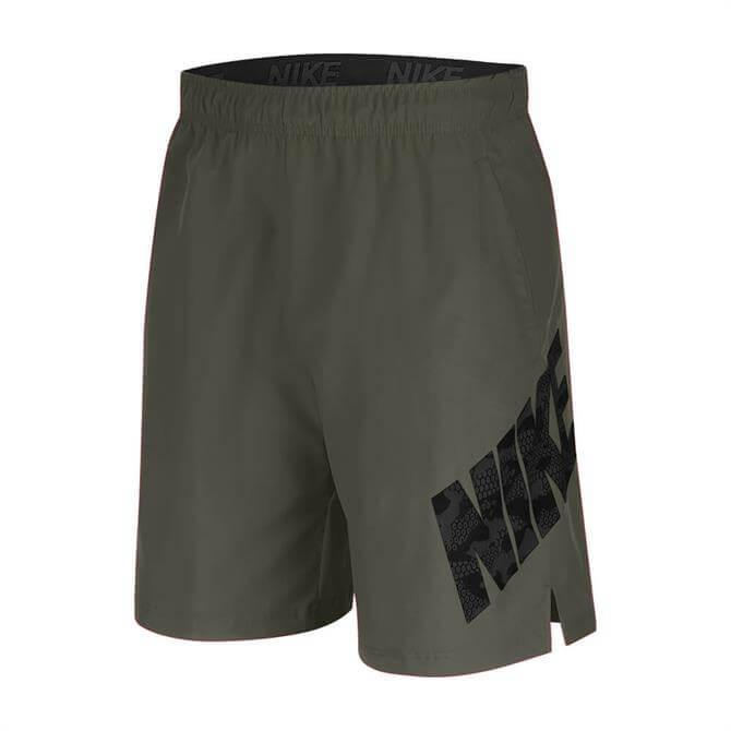 """Nike Pro Flex Mens 8"""" Camo Shorts - Khaki"""