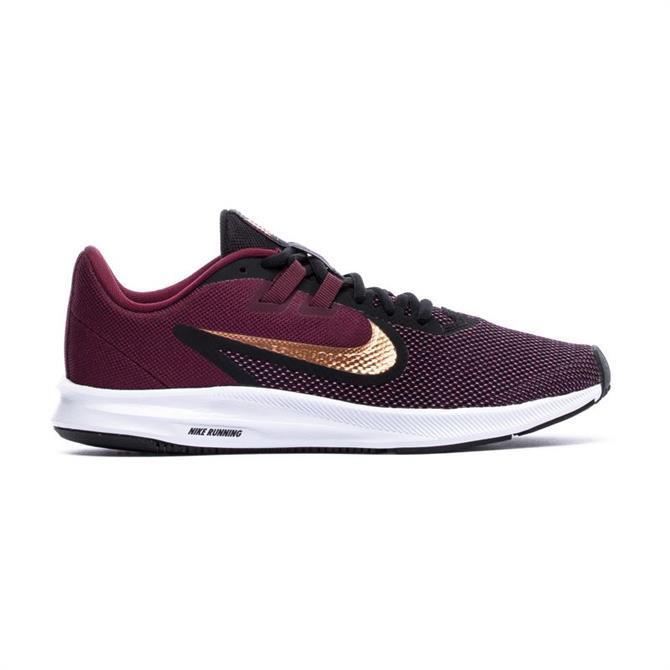 Nike Women's Downshifter 9 Running Shoe - Night Maroon/Metallic Copper