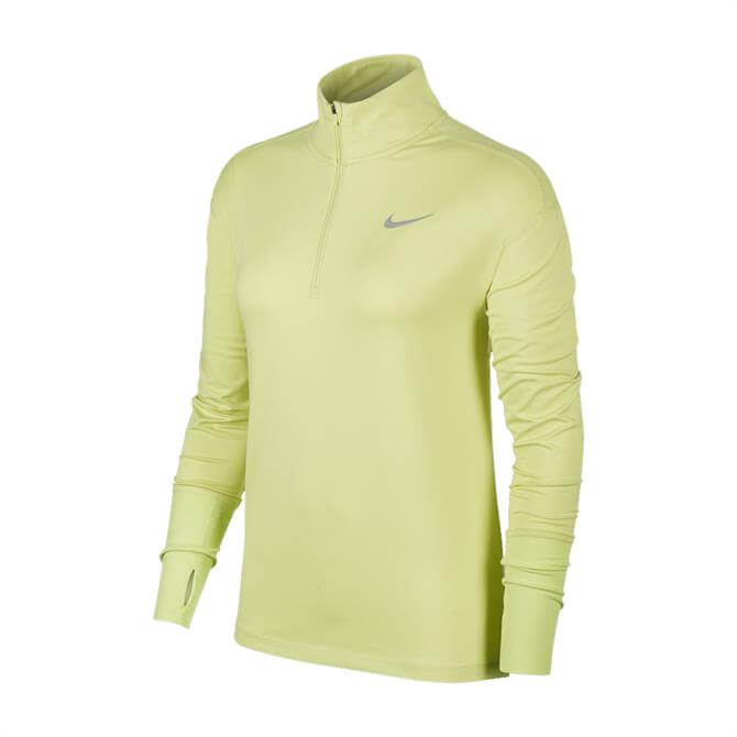 Nike Women's 1/2 Zip Running Top - Lime