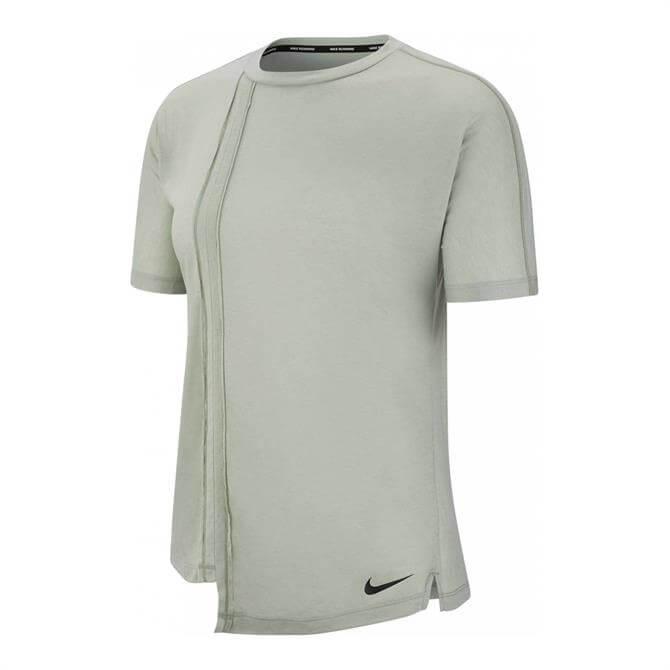 Nike Rebel Women's Asymmetrical Running Top - Green