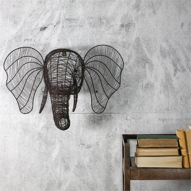 Nkuku Eko Wire Elephant Head