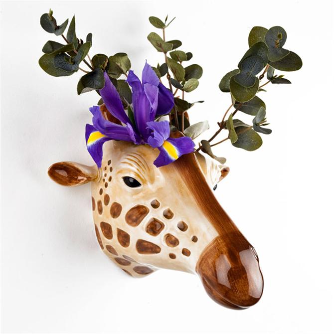 Quail Ceramics Giraffe Wall Vase
