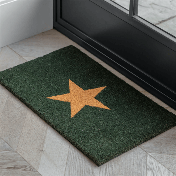 Garden Trading Forest Green Star Doormat Small