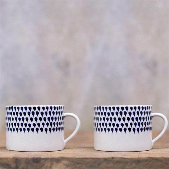 Nkuku Indigo Drop Mug Large