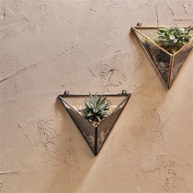 Nkuku Karana Wall Hung Planter Black