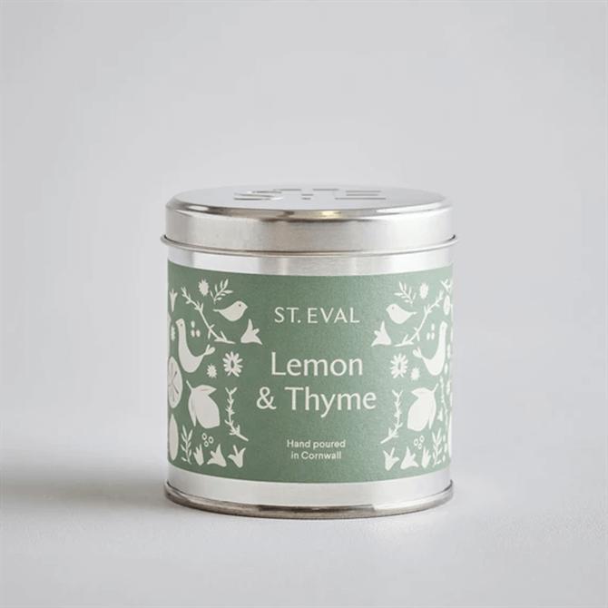 St.Eval Lemon & Thyme Summer Folk Scented Tin Candle