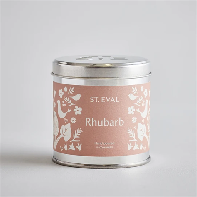 St.Eval Rhubarb Summer Folk Scented Tin Candle