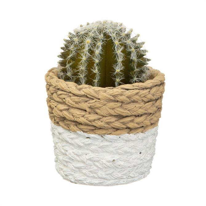 Sass & Belle White Dip Cement Planter