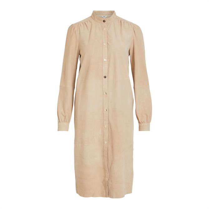 Object Evie Suede Shirt Dress