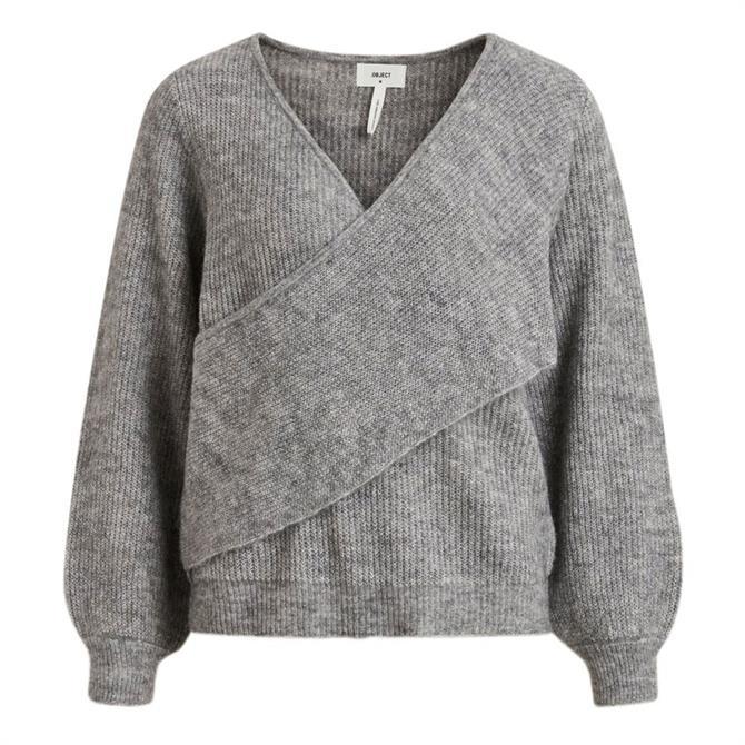Object Holly Wrap Effect Wool Blend Sweater