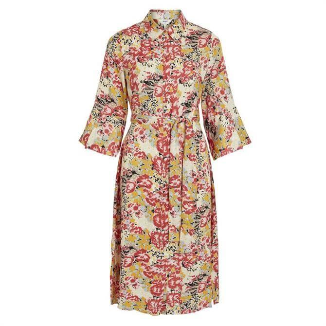 Object Jolly Floral Tie Waist Midi Dress