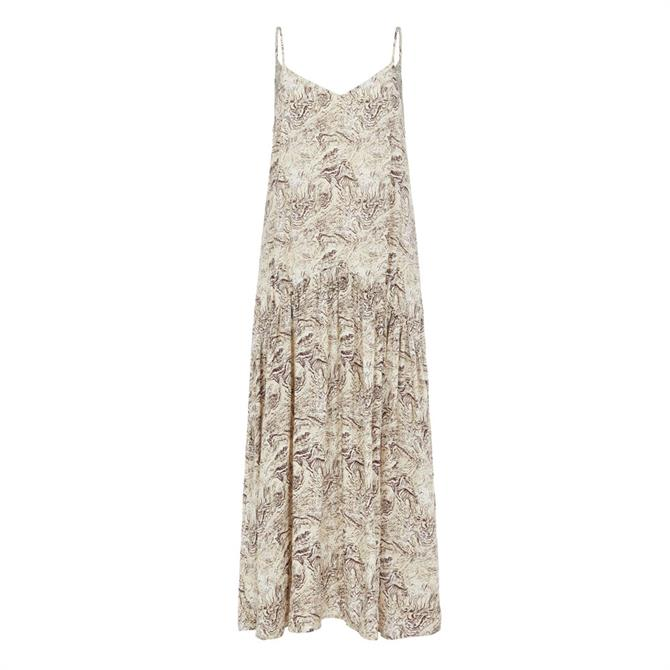 Object Kinna Patterned Maxi Strap Dress