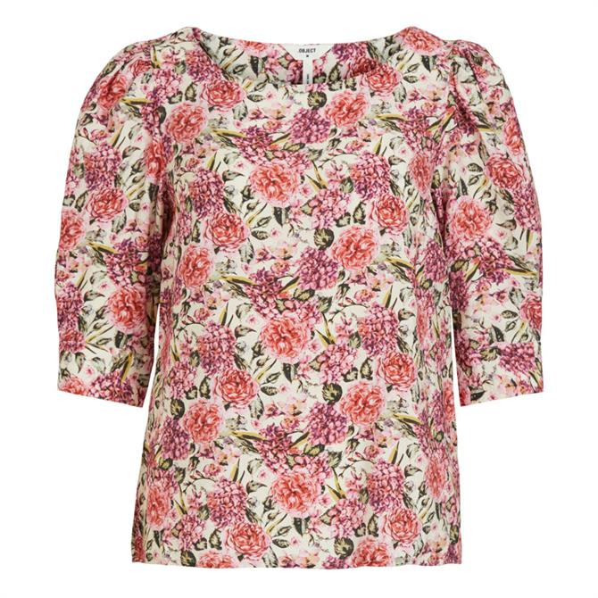Object Tilli Floral Puff Sleeve Blouse