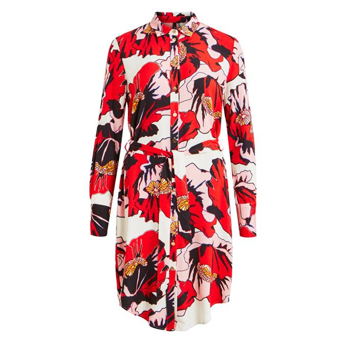 Object Gwenny Graphic Floral Print Shirt Dress