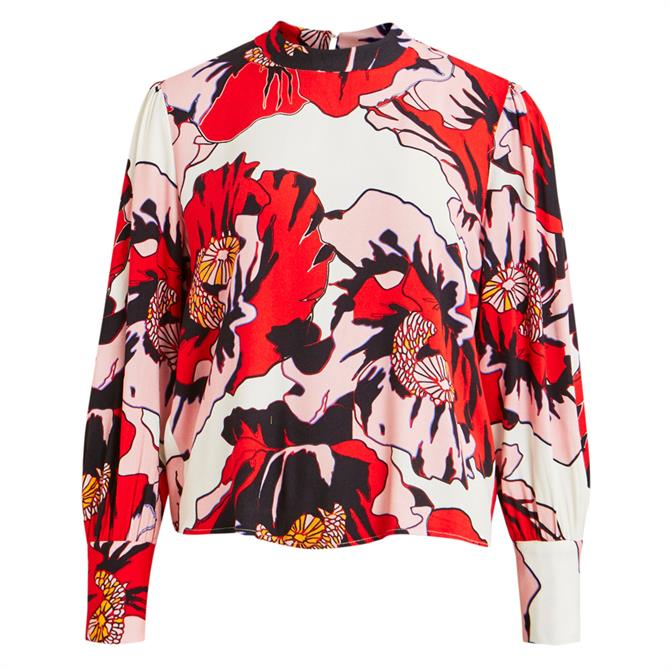 Object Gwenny Graphic Floral Print Blouse