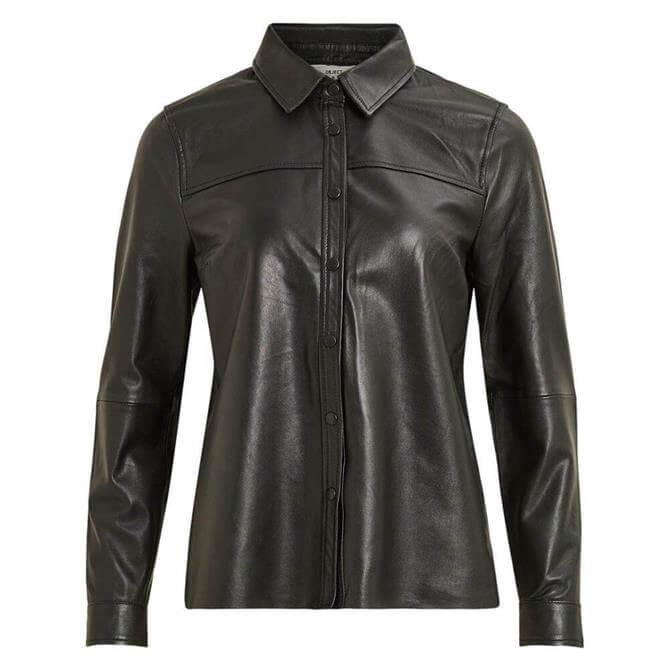 Object Kasandra Leather Overshirt