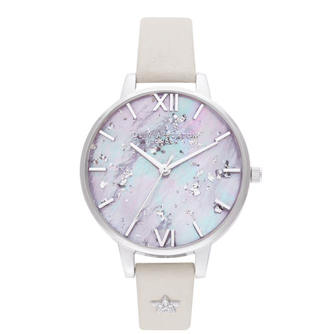 Olivia Burton Celestial Star Mother of Pearl Dial, Blush & Silver Watch
