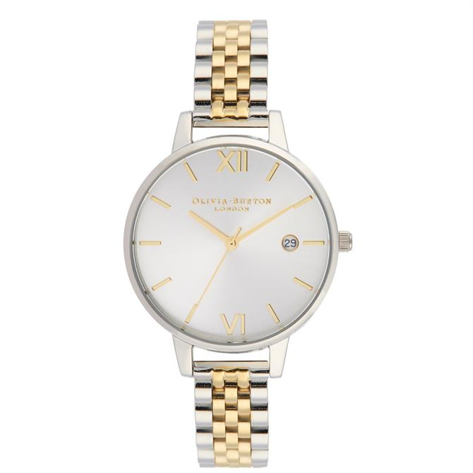 Olivia Burton Sunray Gold and Silver Demi Dial Watch
