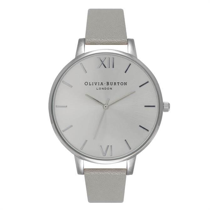 Olivia Burton Big Dial Grey & Silver Watch