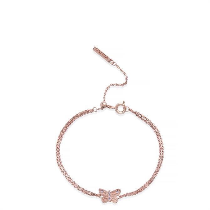 Olivia Burton Bejewelled Butterfly Chain Bracelet