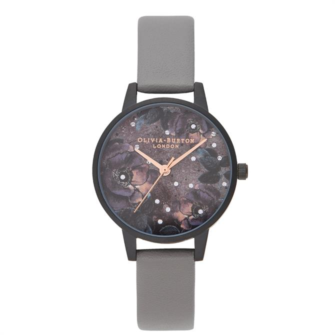 Olivia Burton Celestial Vegan London Grey & Matte Black Watch