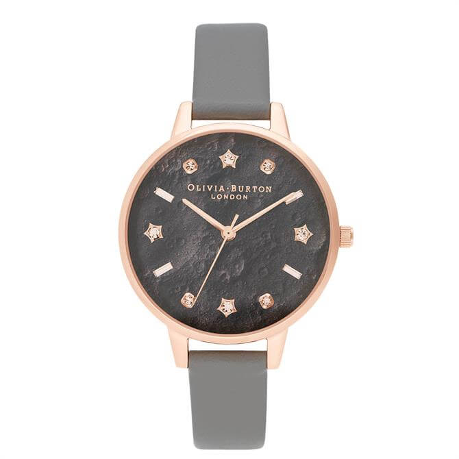 Olivia Burton Celestial Vegan London Grey & Rose Gold Watch