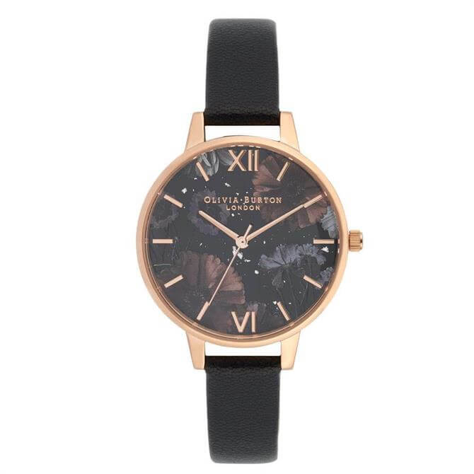Olivia Burton Celestial Black Demi Dial Watch