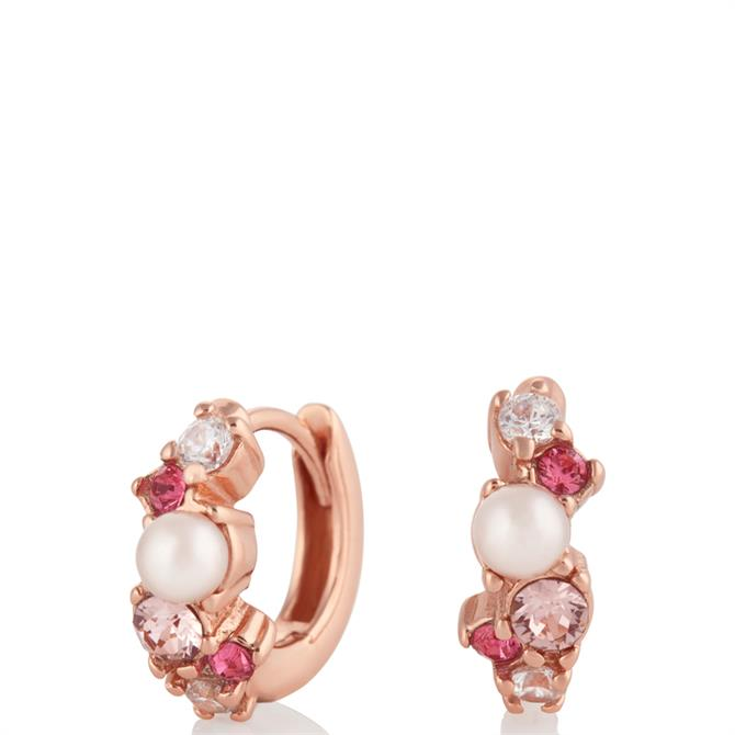 Olivia Burton Under the Sea Rose Gold Huggie Hoops Earrings