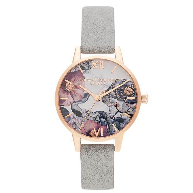 Olivia Burton Eco Friendly Grey & Rose Gold Watch