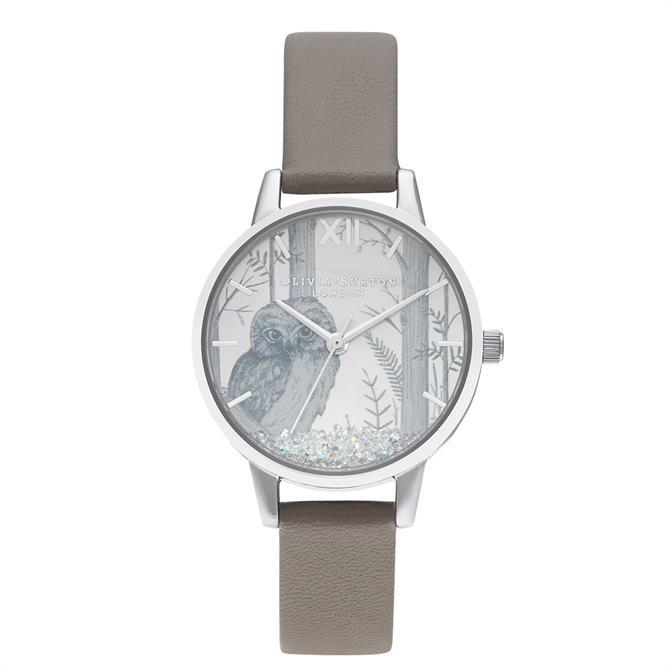 Olivia Burton Snow Globe Vegan London Grey & Silver Watch