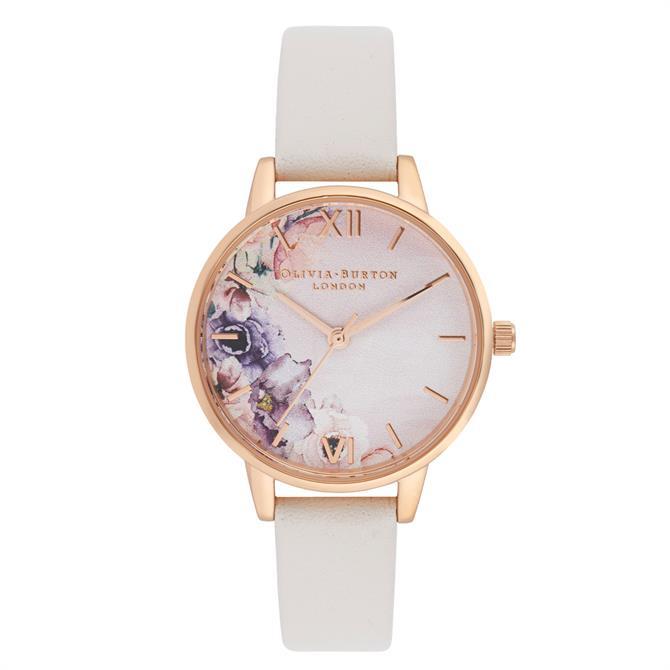 Olivia Burton Watercolours Florals Blush & Rose Gold Watch