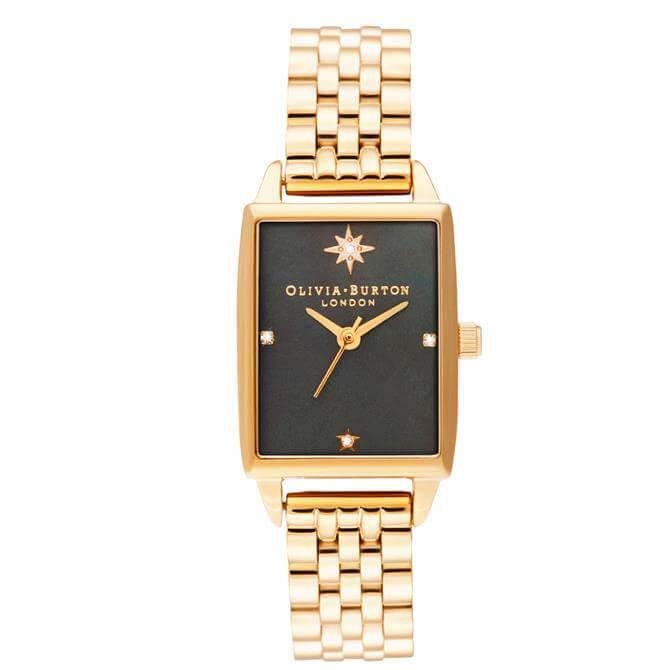 Olivia Burton Celestial Black Mother of Pearl Dial & Gold Bracelet Watch
