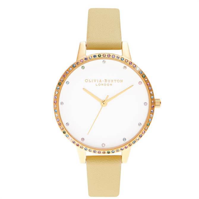 Olivia Burton Rainbow Bezel Sunshine & Gold Watch