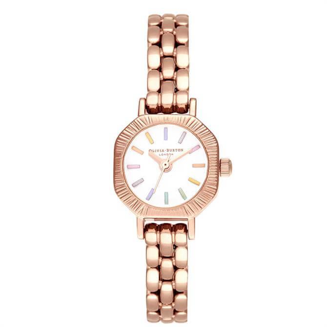 Olivia Burton Rainbow Pale Rose Gold Bracelet Watch