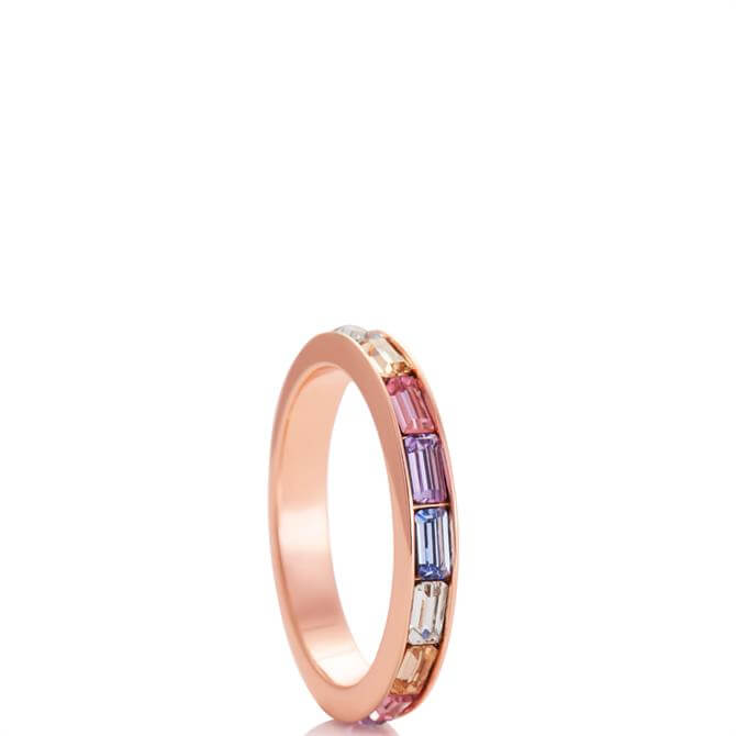 Olivia Burton Rainbow Baguette Ring