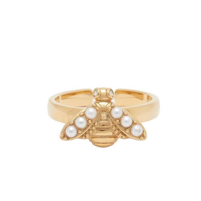 Olivia Burton Pearl Bee Gold Ring