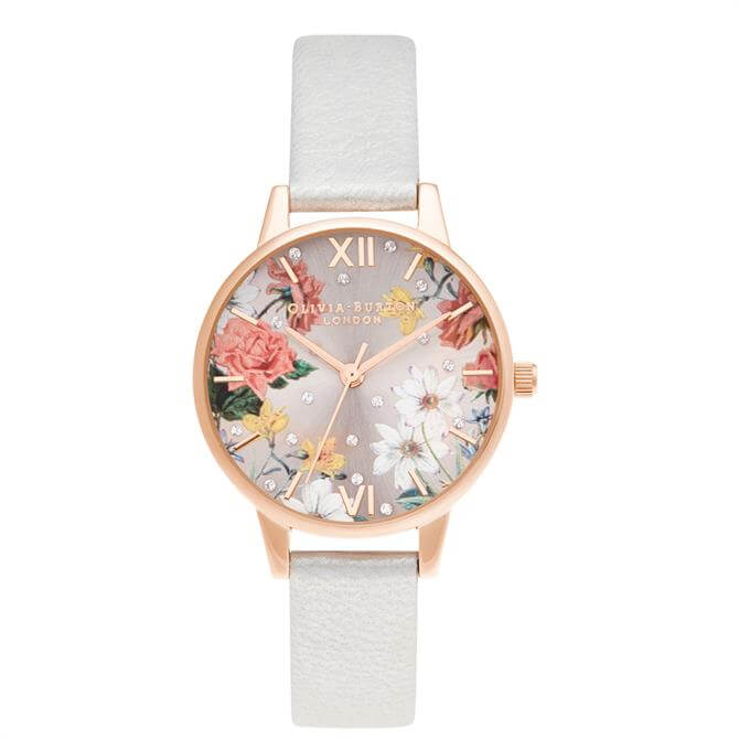 Olivia Burton Midi Shimmer Pearl & Pale Rose Gold Watch