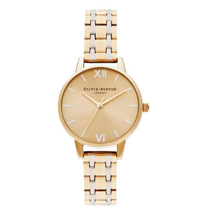 Olivia Burton Midi Dial Pale Gold & Silver Gold Watch